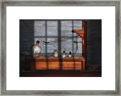Chemist - The Science Experiment Framed Print by Mike Savad