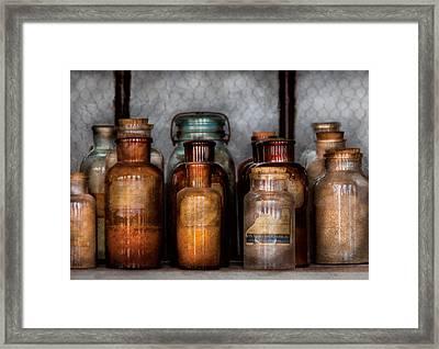 Chemist - Various Chemicals Framed Print