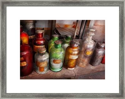 Chemistry - Chemists Rainbow  Framed Print by Mike Savad