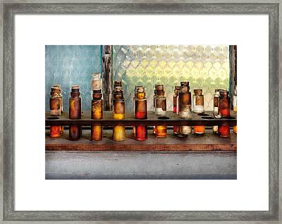 Chemistry - The Samples  Framed Print by Mike Savad