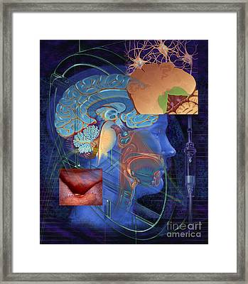 Chemotherapy-induced Nausea And Vomiting Framed Print by DNA Illustrations