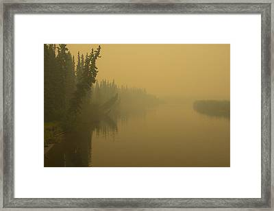 Framed Print featuring the photograph Chena River by Gary Lengyel