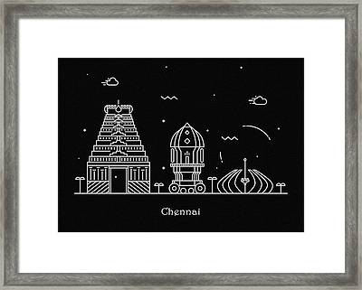 Chennai Skyline Travel Poster Framed Print