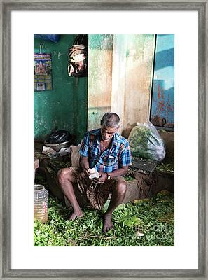 Chennai Vegetable Market Commerce Framed Print