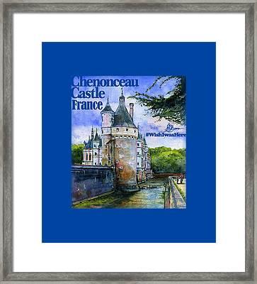 Chenonceau Castle Shirt Framed Print