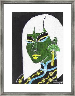 Cheong-sam -- Negative 1 Framed Print by Jayne Somogy
