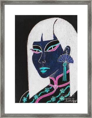 Cheong-sam -- Negative 3 Framed Print by Jayne Somogy