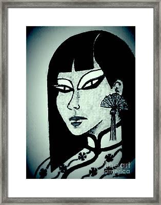 Cheong-sam -- Nocturnal Framed Print by Jayne Somogy