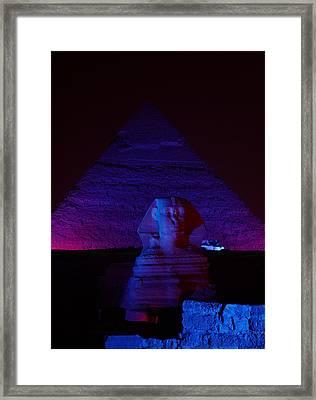 Cheops In Blue Framed Print