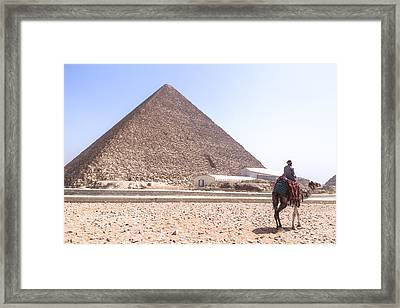 Cheops Pyramid - Egypt Framed Print by Joana Kruse