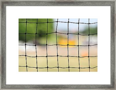 Chequered Present Bleak Future Framed Print