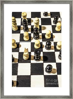 Chequered Strategic Battle Framed Print
