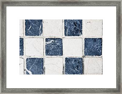 Chequered Tiles Framed Print