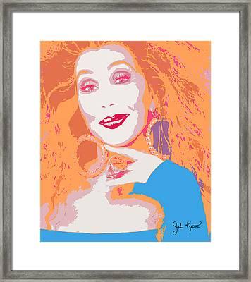 Cher Framed Print by John Keaton