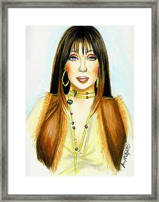 Cher Framed Print by Scarlett Royal