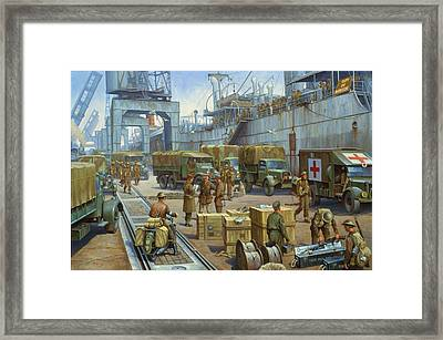 Cherbourg 1940. Framed Print by Mike  Jeffries