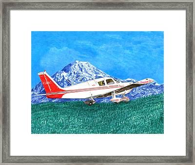 Cherokee 6 Circling Mount Rainier Framed Print by Jack Pumphrey
