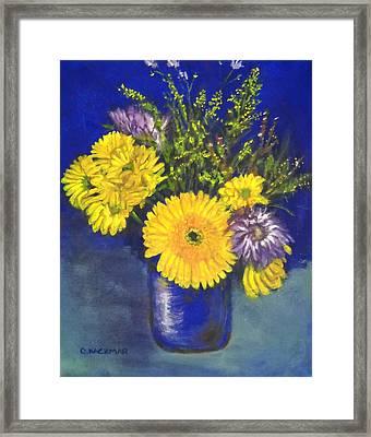Cheris Flowers Framed Print by Olga Kaczmar