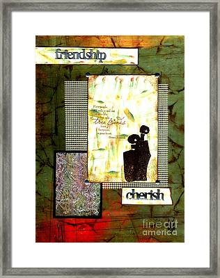 Cherished Friends Framed Print by Angela L Walker
