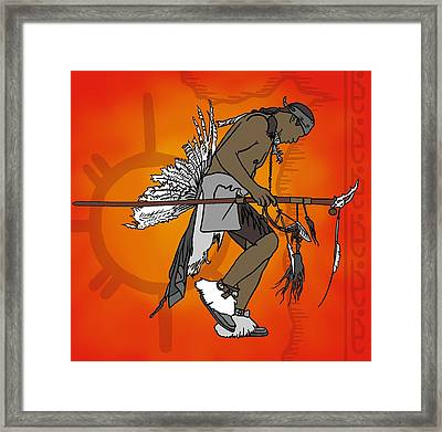 Cherokee 1 Framed Print by M Blaze Wolenski