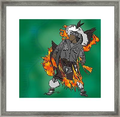 Cherokee 2 Framed Print by M Blaze Wolenski