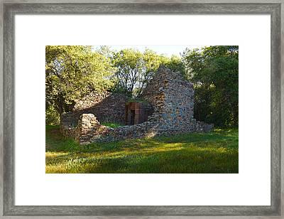 Cherokee Gold Assayers Office Ruins Framed Print