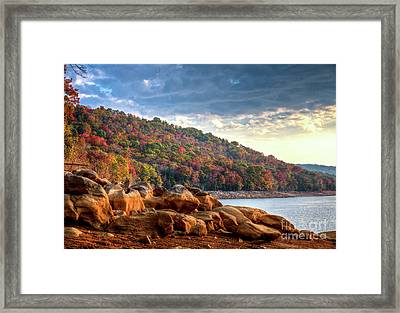 Framed Print featuring the photograph Cherokee Lake Color II by Douglas Stucky