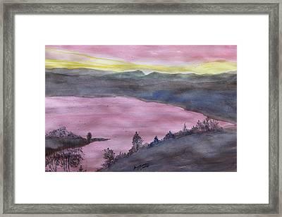 Framed Print featuring the painting Cherokee Lake - Watercolor Sketch  by Joel Deutsch