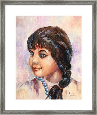 Cherokee Princess Framed Print by Audie Yenter