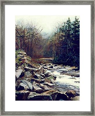 Cherokee Stream Framed Print by William  Brody
