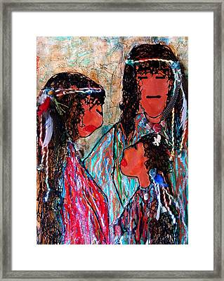 Cherokee Trail Of Tears Brave Family Framed Print by Laura  Grisham