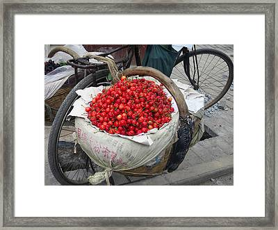 Cherries And Berries Framed Print