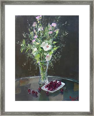 Cherries And Flowers For Her IIi Framed Print