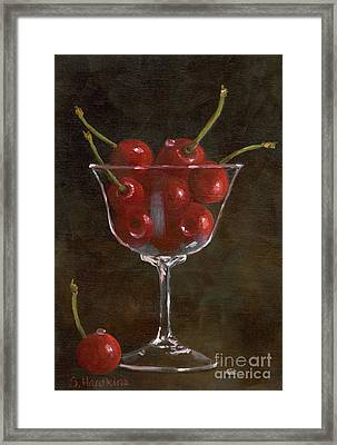 Cherries Jubilee Framed Print