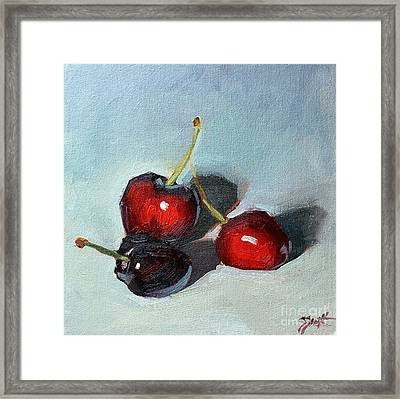 Cherries Jubillee Framed Print