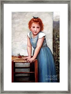 Cherries Framed Print by Judy Kirouac