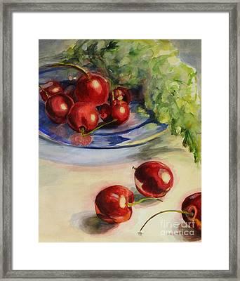 Cherries Framed Print by Lori McCray