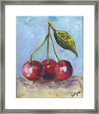 Cherries One Two Three Framed Print