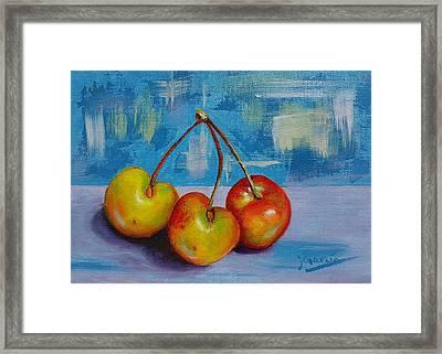 Cherries Trio Framed Print