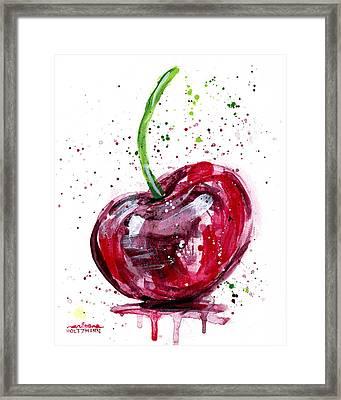 Cherry 2 Framed Print by Arleana Holtzmann