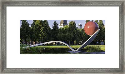 Cherry And The Spoon Panorama Framed Print