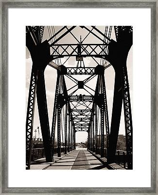 Cherry Avenue Bridge Framed Print by Kyle Hanson