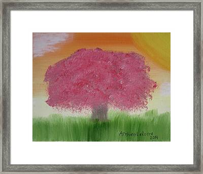 Cherry Blossom Framed Print by Artists With Autism Inc