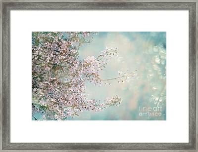 Framed Print featuring the photograph Cherry Blossom Dreams by Linda Lees