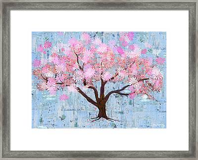 Cherry Blossom Flowering Art Framed Print