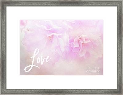 Cherry Blossom Valentine Framed Print