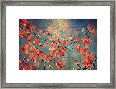 Cherry Blossoms Framed Print by Anza Arain