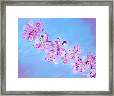 Cherry Blossoms. Thank You Collection Framed Print