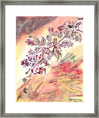 Cherry Blossoms Framed Print by Monica Mitchell