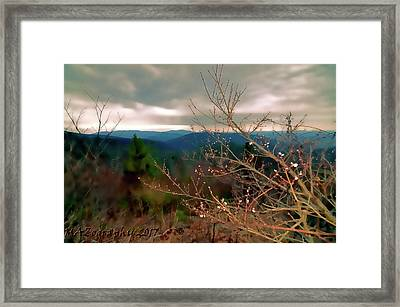 Cherry Blossoms On Sky Line Drive Framed Print by Melissa Hicks